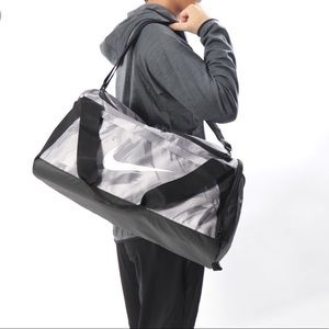 NWT Nike Bag Duff 2503 Grey Black White Unisex